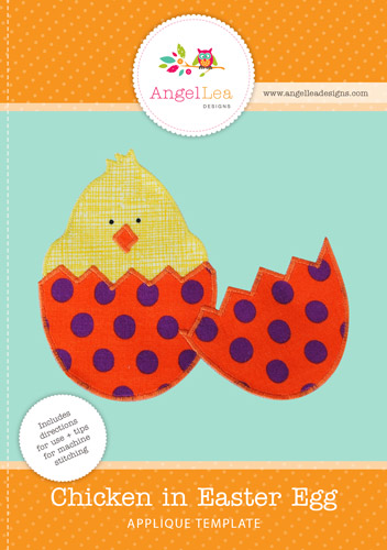 Chicken in Egg Applique Template