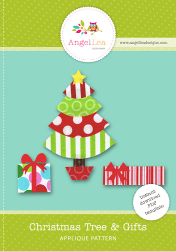Christmas Tree and Gifts Applique Template