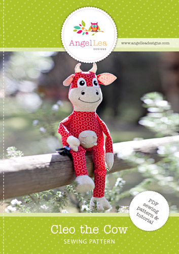 Cleo the Cow Softie PDF Sewing Pattern