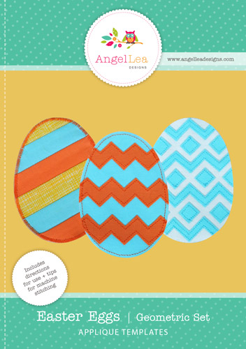 free easter eggs applique pattern