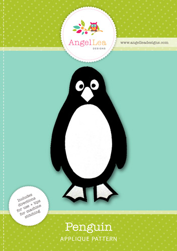 Penguin Applique Template