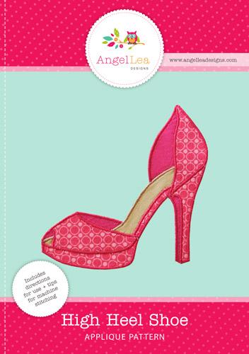 High Heel Shoe Applique Template