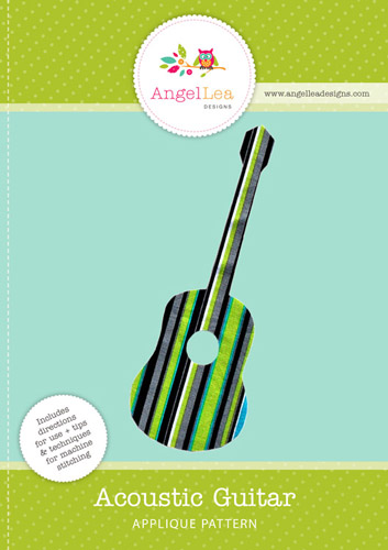 acoustic guitar pdf applique template angel lea designs