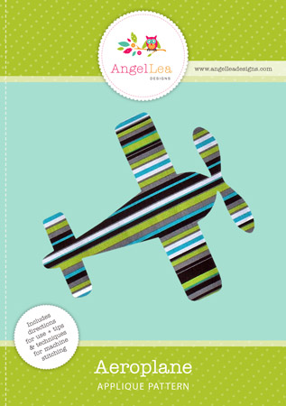 Aeroplane PDF Applique Template