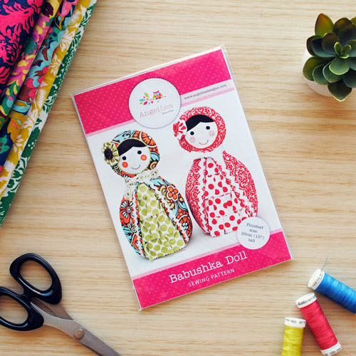 Babushka Doll Sewing Pattern - HARD COPY