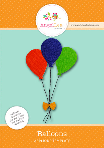 Balloons Applique Template