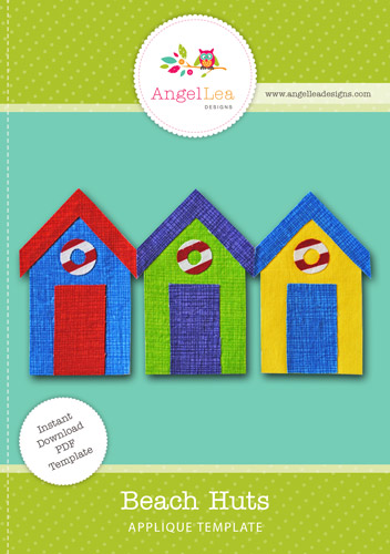 Beach Huts Applique Template