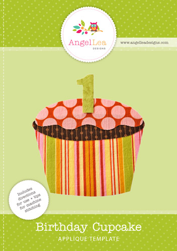 Birthday Cupcake Applique Template
