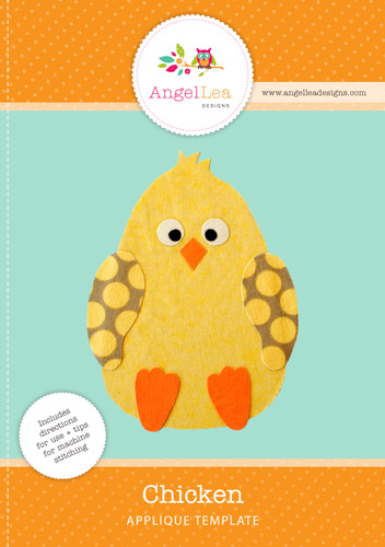 Chicken Applique Template