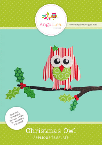 Christmas Owl Applique Template