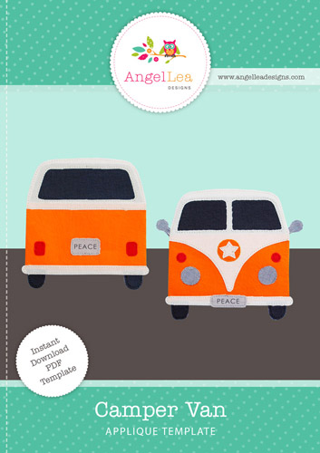 Camper Van Applique Template