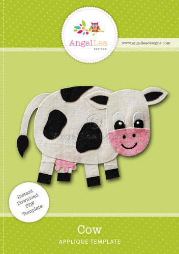 Cow Applique Template