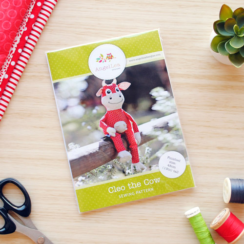 Cleo the Cow Sewing Pattern - HARD COPY