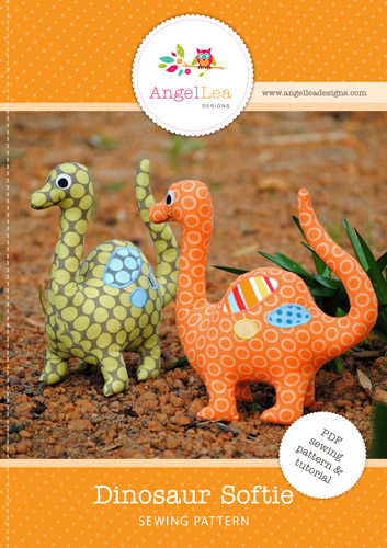 Dinosaur Softie PDF Sewing Pattern