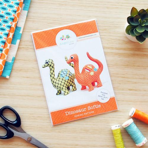 Dinosaur Sewing Pattern - HARD COPY
