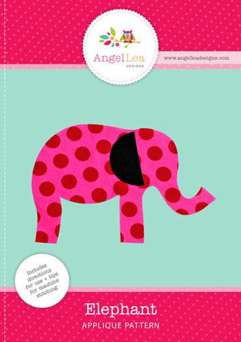 Elephant Applique Template