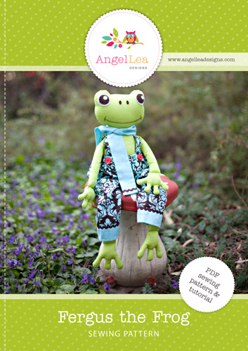 Fergus the Frog Softie PDF Sewing Pattern
