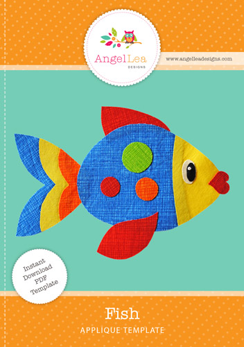 Fish Applique Template
