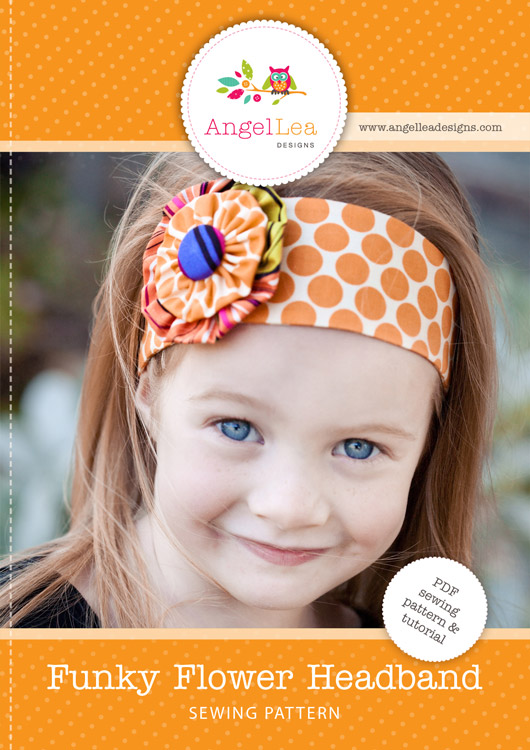 Funky Flower Headband PDF Sewing Pattern