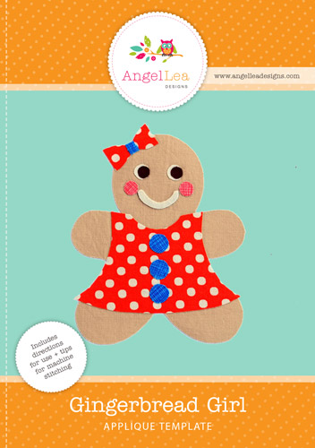 Gingerbread Girl Applique Template