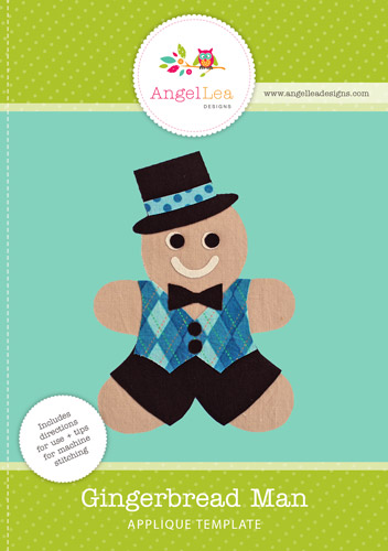 Gingerbread Man Applique Template