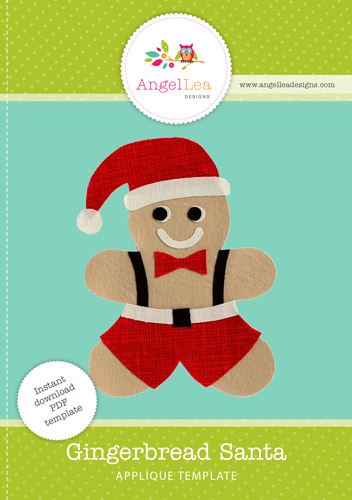 Gingerbread Santa Applique Template