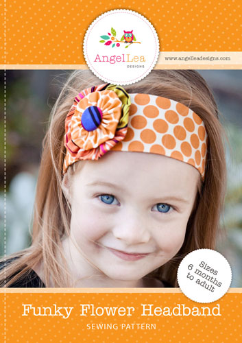 Funky Flower Headband PDF Sewing Pattern