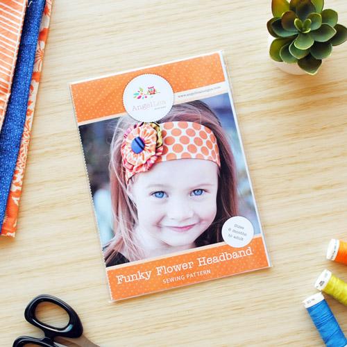 Funky Flower Headband Sewing Pattern - HARD COPY