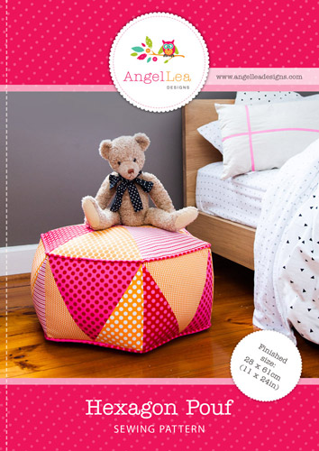 Hexagon Pouf PDF Sewing Pattern