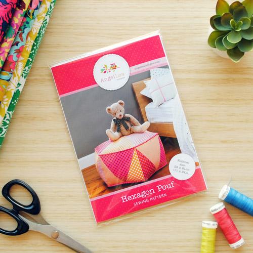 Hexagon Pouf Sewing Pattern - HARD COPY