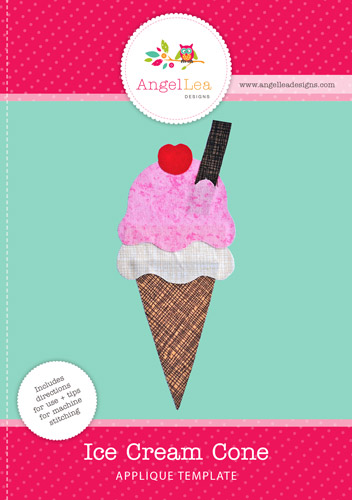 Ice Cream Applique Template