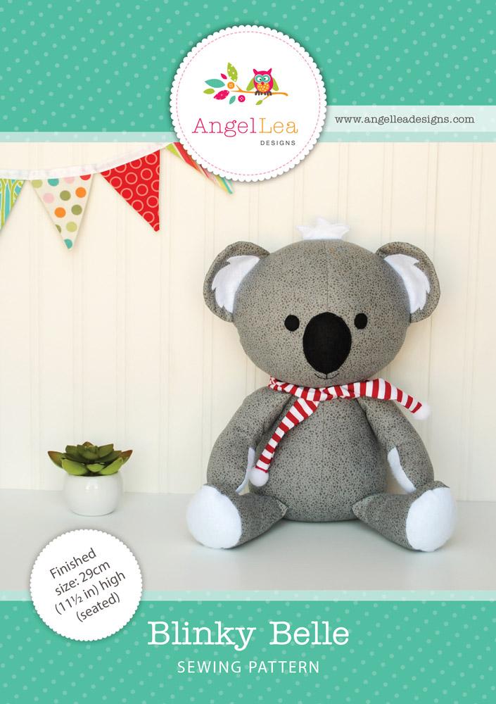 Blinky Belle Koala PDF Sewing Pattern