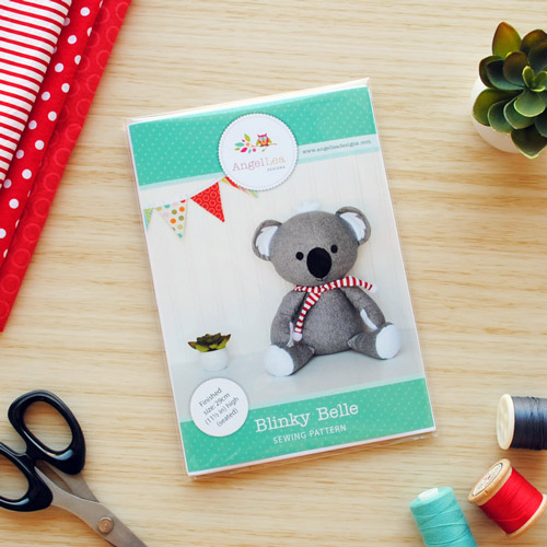 Blinky Belle Koala Sewing Pattern - HARD COPY