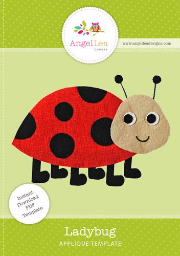 ladybug applique template angel lea designs