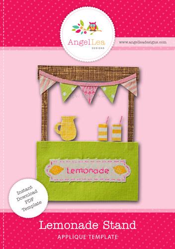 Lemonade Stand Applique Template
