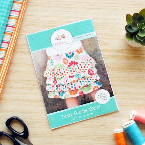Lexi Ruffle Skirt Sewing Pattern - HARD COPY