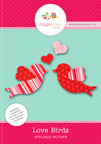 Love Birds Applique Template