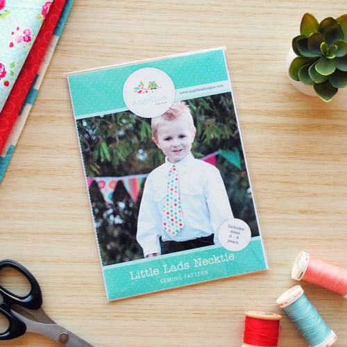 Little Lads Necktie Sewing Pattern - HARD COPY