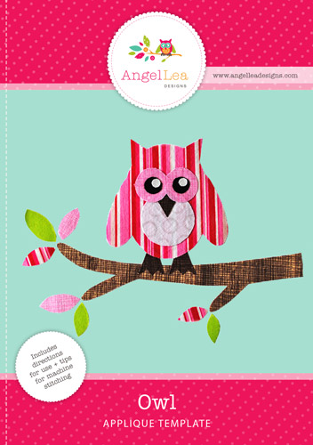 Owl on Branch Applique Template