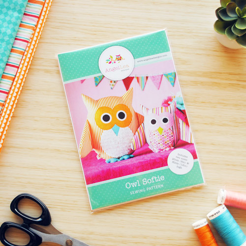 Owl Soft Toy Sewing Pattern - HARD COPY