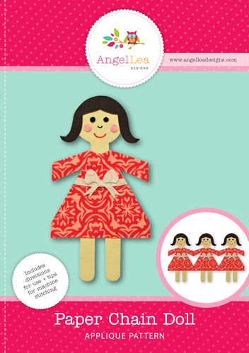 Paper Chain Doll Applique Template