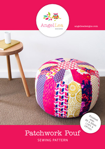 Patchwork Pouf PDF Sewing Pattern