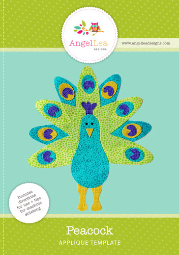 Peacock Applique Template
