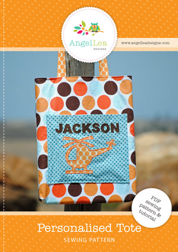 Personalised Library Tote PDF Sewing Pattern