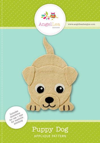 Puppy Dog Applique Template