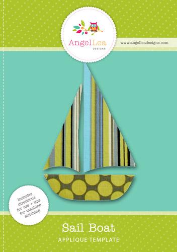 sail boat applique template angel lea designs