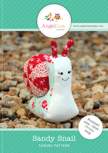 Sandy the Snail Softie PDF Sewing Pattern