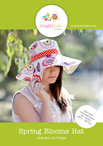 Spring Blooms Sun Hat PDF Sewing Pattern - Angel Lea Designs