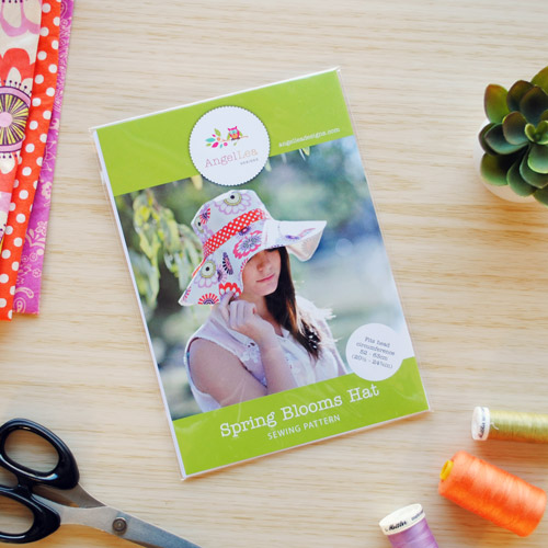 Spring Blooms Sun Hat Sewing Pattern - HARD COPY