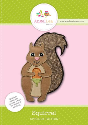Squirrel Applique Template - Angel Lea Designs